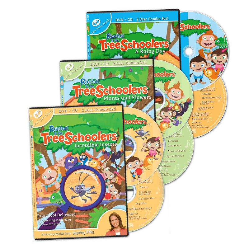 TreeSchoolers 1-3 DVD/CD Set